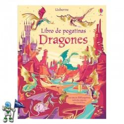 DRAGONES , LIBRO DE PEGATINAS , USBORNE