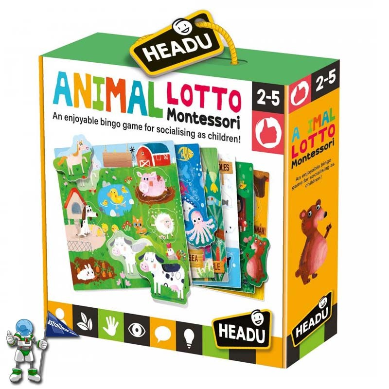 ANIMAL LOTO MONTESSORI , HEADU