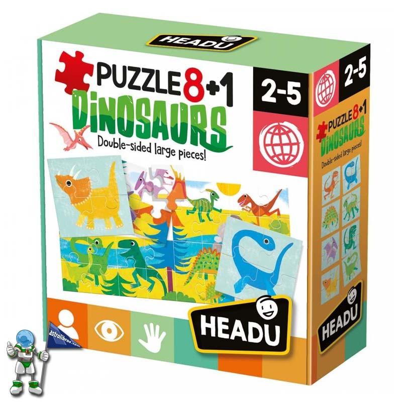 PUZLE 8+1 DINOSAURIOS , HEADU