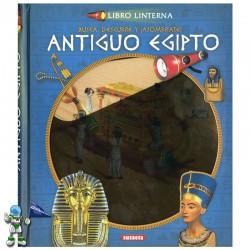 ANTIGUO EGIPTO , LIBRO CON LINTERNA