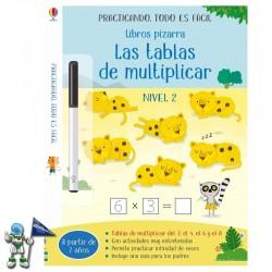 LAS TABLAS DE MULTIPLICAR NIVEL 2 , LIBROS PIZARRA USBORNE