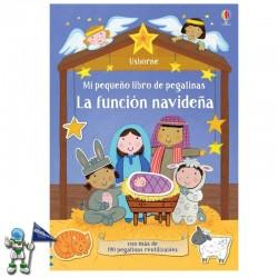 LA FUNCIÓN NAVIDEÑA , MI PEQUEÑO LIBRO DE PEGATINAS , LIBROS DE NAVIDAD USBORNE