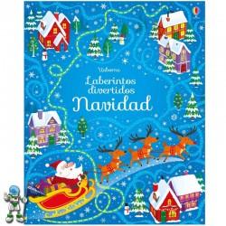 LABERINTOS DIVERTIDOS NAVIDAD , LIBROS DE NAVIDAD USBORNE