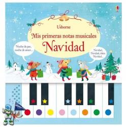 NAVIDAD , MIS PRIMERAS NOTAS MUSICALES , LIBRO PIANO , LIBROS DE NAVIDAD USBORNE