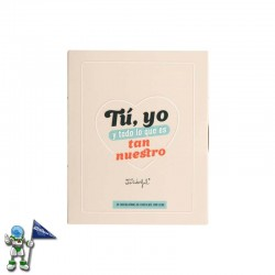 LIBRO CON CHOCOLATINAS MR WONDERFUL TU, YO Y TODO LO QUE ES TAN NUESTRO