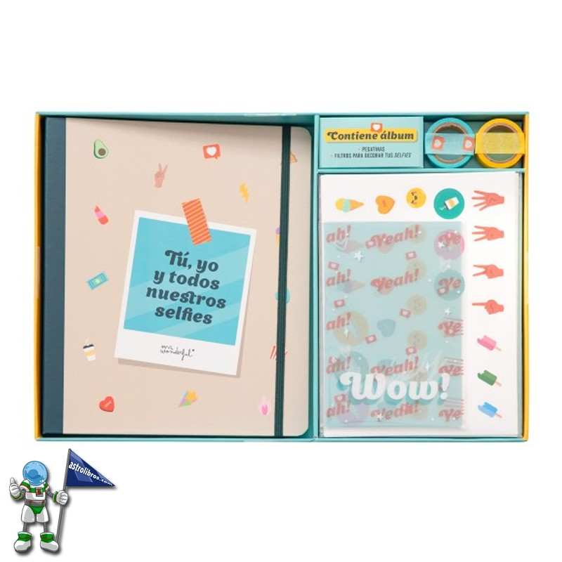 KIT SCRAPBOOKING MR WONDERFUL PARA HACER UN ÁLBUM DE FOTOS DE SELFIES