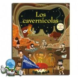 Los cavernícolas. Libro de pegatinas.
