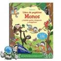 Monos y también gorilas, chimpancés y orangutanes. Libro de pegatinas.