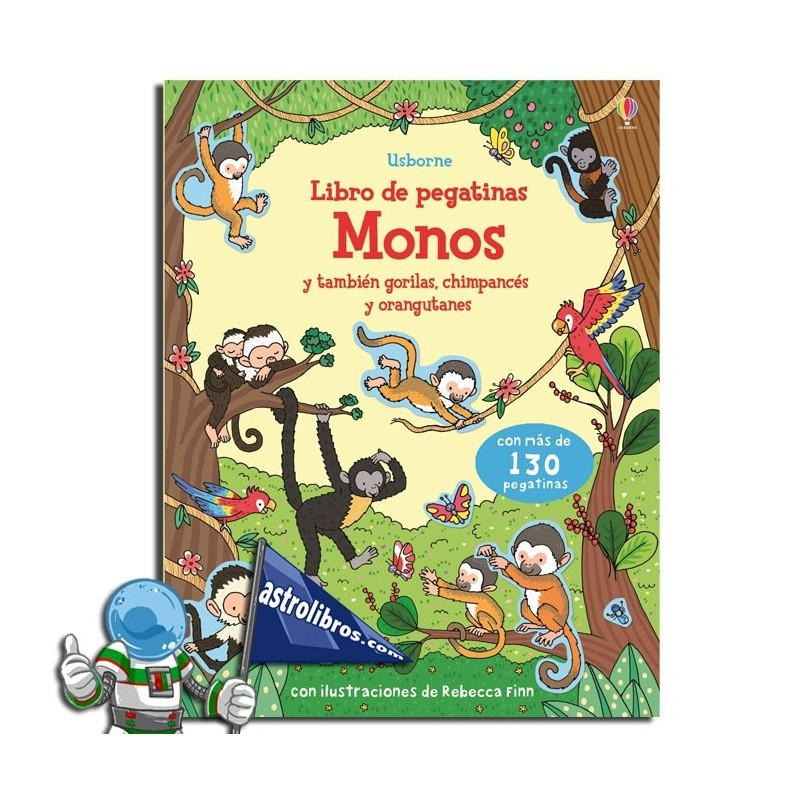 Monos. Libro de pegatinas.