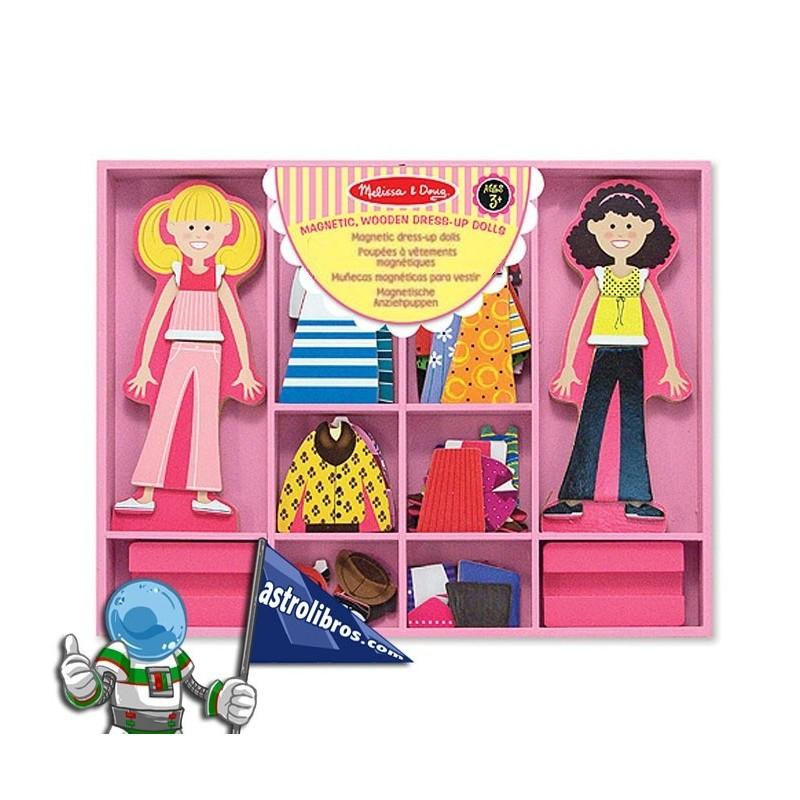 Muñecas magnéticas para vestir. Kit 60 piezas