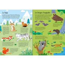 ANIMALES DEL MUNDO, LIBRO Y PUZZLE 200 PIEZAS USBORNE