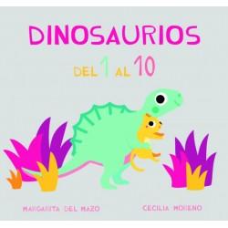 DINOSAURIOS DEL 1 AL 10, MIAU CARTÓN