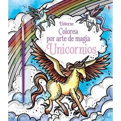 UNICORNIOS, COLOREA POR ARTE DE MAGIA USBORNE