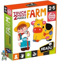 2 PIECE PUZZLE FARM , PUZZLE HEADU