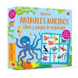 ANIMALES MARINOS , LIBRO Y JUEGOS DE EMPAREJAR