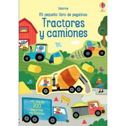TRACTORES Y CAMIONES, MI PEQUEÑO LIBRO DE PEGATINAS USBORNE