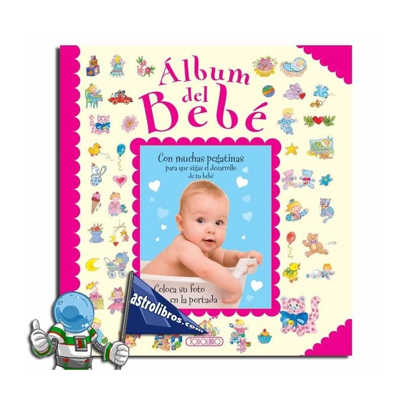 Álbum del bebé. Libro de recuerdos rosa.