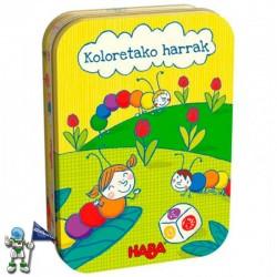 KOLORETAKO HARRAK , JUEGO DE HABA EN EUSKERA