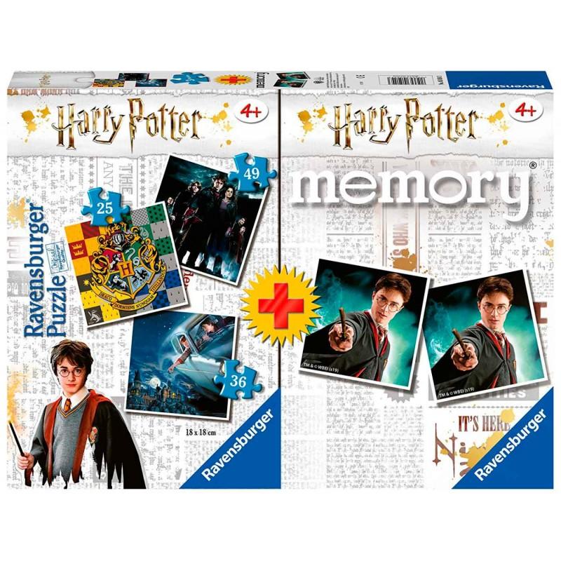 HARRY POTTER, JUEGO DE MEMORY Y TRES PUZZLES