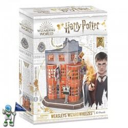 HARRY POTTER, PUZZLE 3D, TIENDA DE ARTÍCULOS DE BROMA WEASLEYS