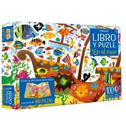 EN EL MAR, LIBRO Y PUZZLE 100 PIEZAS USBORNE