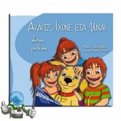 Araitz, Ixone y Unai en el parque de los patos (Euskera)
