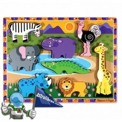 Rompecabezas de madera. Animales de Safari.