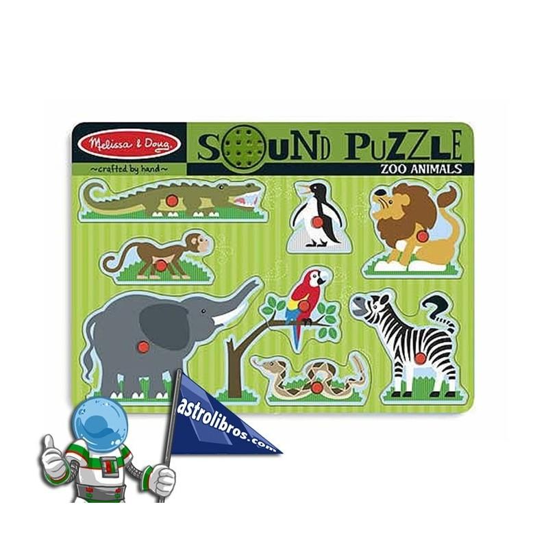 Rompecabezas con sonido. Animales Zoo
