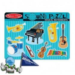 Rompecabezas con sonido. Instrumentos musicales