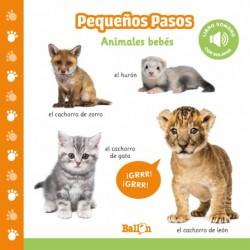 ANIMALES BEBÉS, PEQUEÑOS PASOS LIBRO SONORO