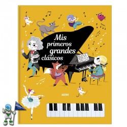MIS PRIMEROS GRANDES CLÁSICOS, LIBRO CON PIANO
