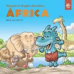 PASCUAL EL DRAGÓN DESCUBRE ÁFRICA, CUENTOS EN LETRA LIGADA
