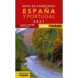 MAPA DE CARRETERAS DE ESPAÑA Y PORTUGAL 2021