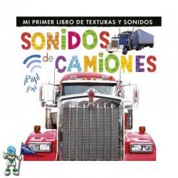 SONIDOS DE CAMIONES, MI PRIMER LIBRO DE TEXTURAS Y SONIDOS