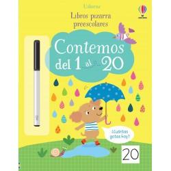 CONTEMOS DEL 1 AL 20, LIBROS PIZARRA PREESCOLARES USBORNE