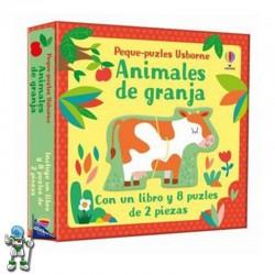 ANIMALES DE GRANJA, PEQUE PUZZLES USBORNE