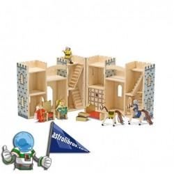 Castillo de madera plegable y portátil