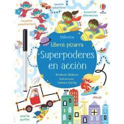 SUPERPODERES EN ACCIÓN, LIBROS PIZARRA USBORNE