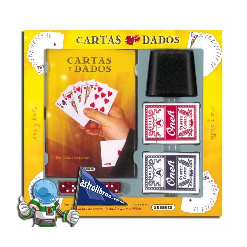 Cartas y dados. Kit de magia infantil-juvenil