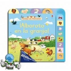 Libro con sonido Alboroto en la granja.