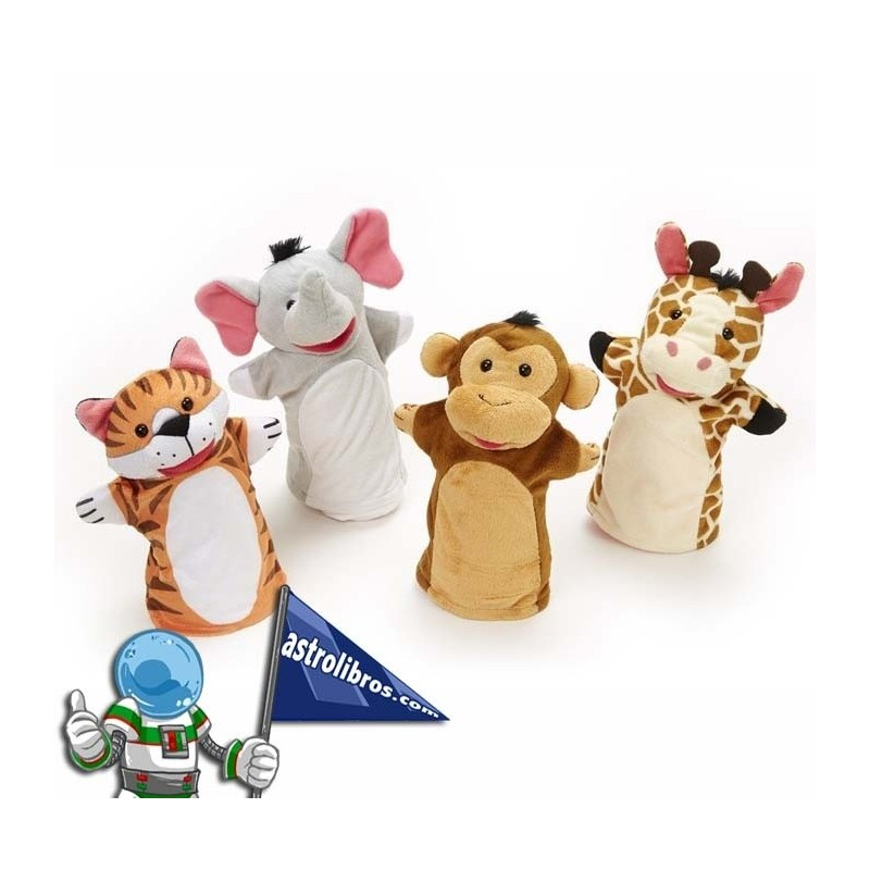 Pack de títeres amigos del zoológico.