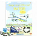 Juega con el libro del avión. Libro-juego