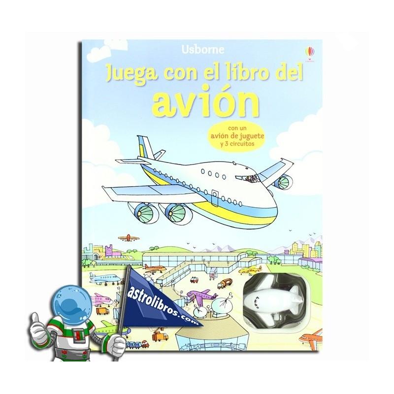 Juega con el libro del avión.