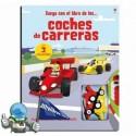 Juega con el libro de los coches de carreras.