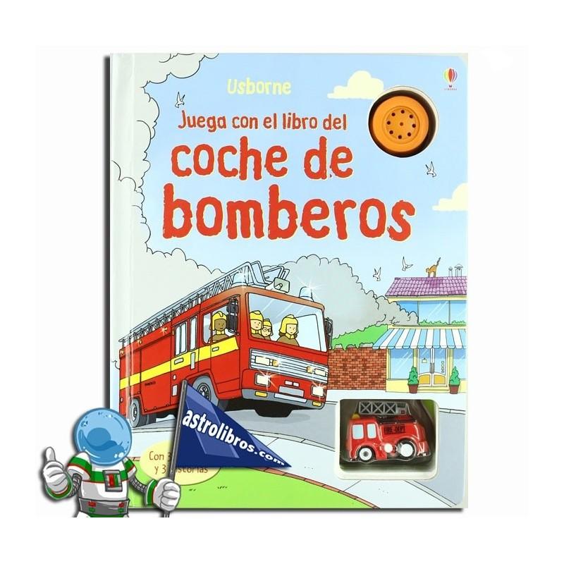 Juega con el libro del coche de bomberos. Libro-juego