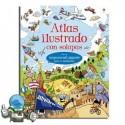 Atlas ilustrado con solapas. Erderaz.