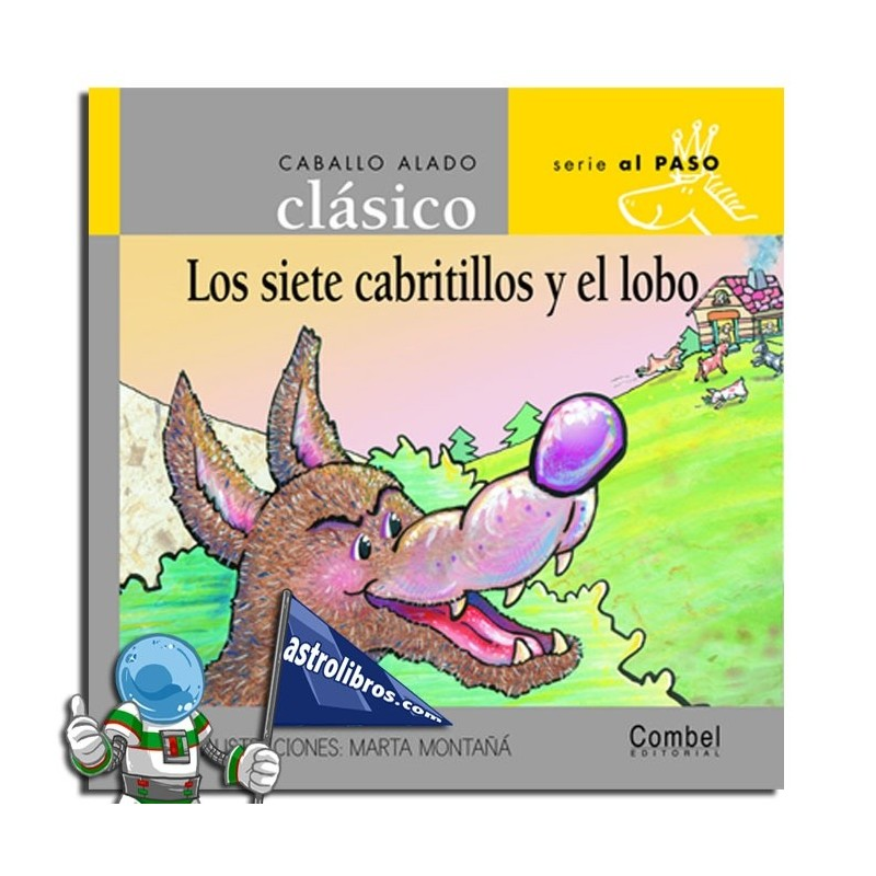 LOS SIETE CABRITILLOS Y EL LOBO ,CABALLO ALADO CLÁSICO , MAYÚSCULA