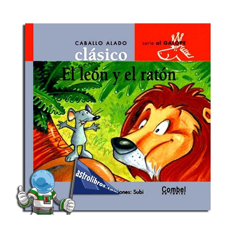 Caballo alado clásico. El león y el ratón. Serie al galope.