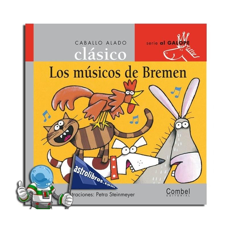 Caballo alado clásico. Los músicos de Bremen. Serie al galope.
