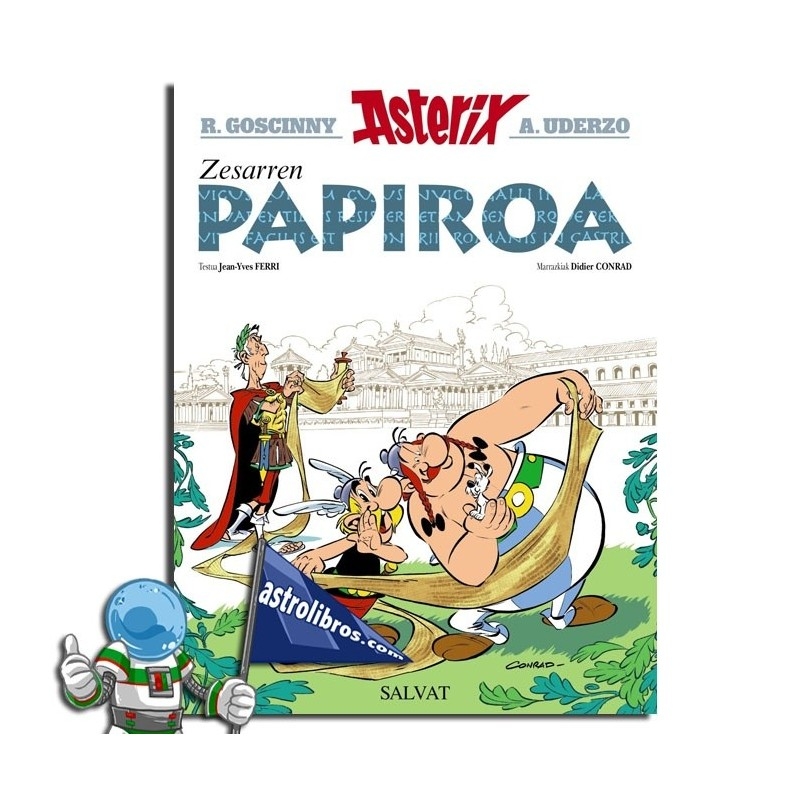 Zesarren Papiroa. Comic Asterix